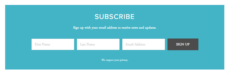 How To Design An Email Marketing / Newsletters Page